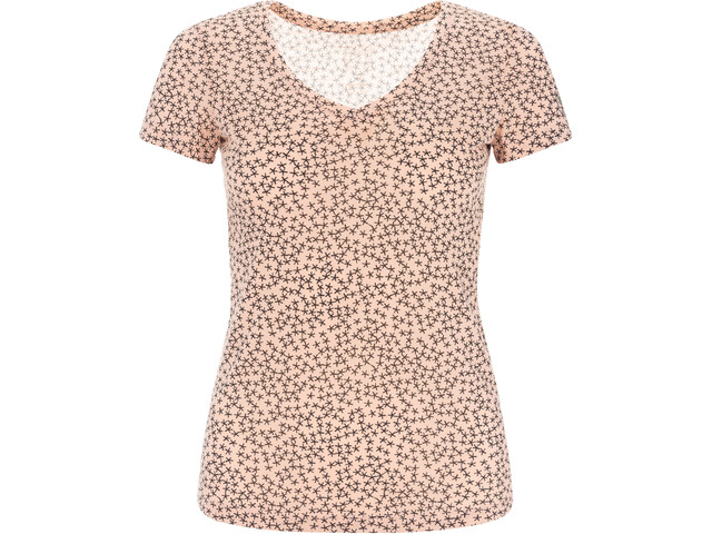 super.natural Base Print 140 V-Ausschnitt T-Shirt Damen blush/blush stars